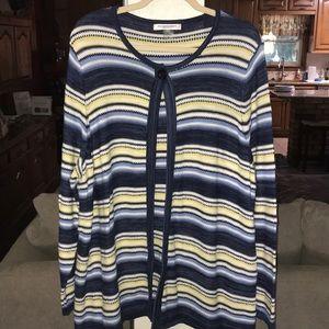 Bright Striped Allison Daley Designer Sweater